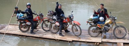 Laos northern motorbike tour