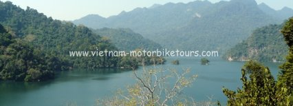 Short Vietnam motorbike tour to Thac Ba and Ba Be
