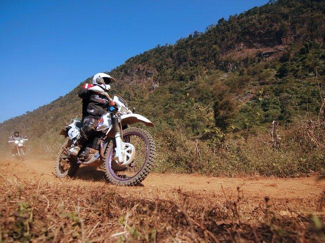 Laos motorbike Buffalo Tour from Vientiane to Longsane