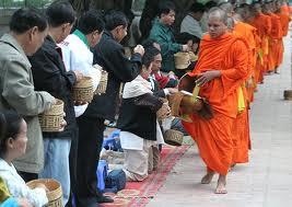 Alms round in Luang Prabang