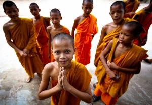Cambodia Angkor Watt Monks