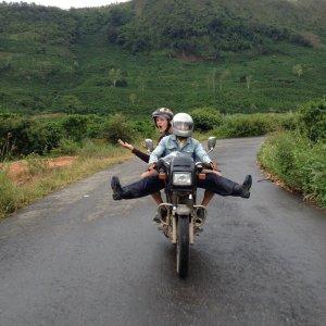 Dalat motorcycle tours to Lak Lake