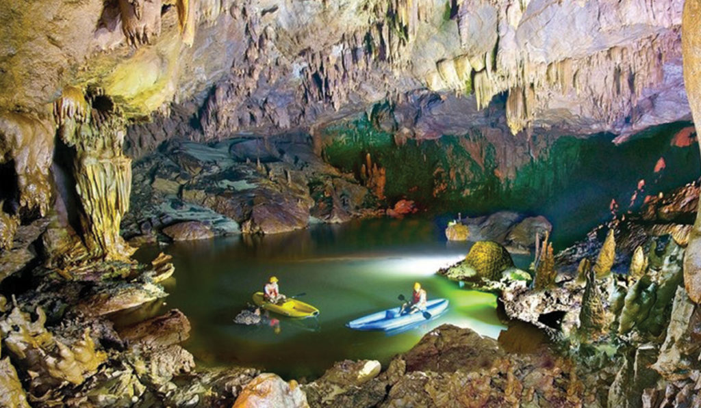 Vietnam motorcycle tour from Hue to Quang Binh - Kayaking in Phong Nha Caves